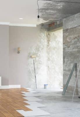 Travaux de rénovation d'intérieur