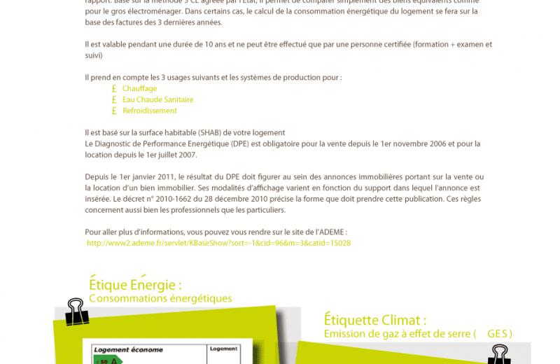 Depuis le 1er Janvier le DPE Diagnostic Performance Énergétique est obligatoire dans les annonces immobilières