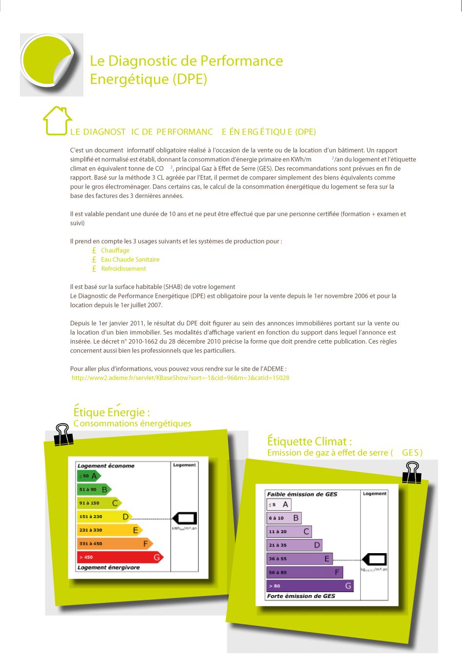 depuis le 1er janvier le dpe diagnostic performance nerg tique est obligatoire dans les. Black Bedroom Furniture Sets. Home Design Ideas